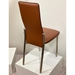 Adriana Modern Reclining Dining Chair in Rust - Back View