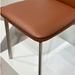 Adriana Modern Reclining Dining Chair in Rust - Piping Detail