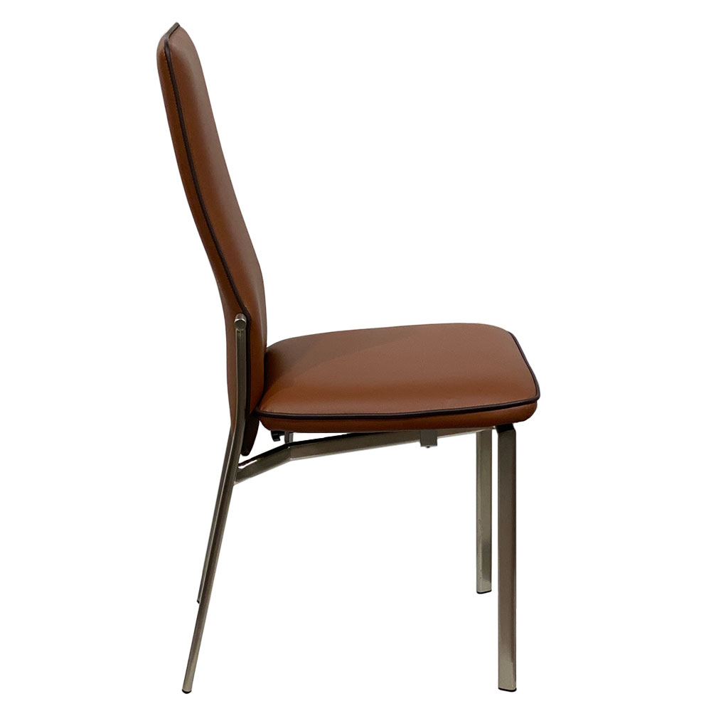 Adriana Modern Reclining Dining Chair in Rust