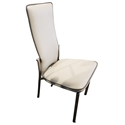 Adriana Modern Reclining Dining Chair in White