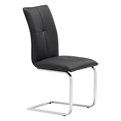 Agda Black Modern Dining Chair