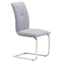 Agda Gray Modern Dining Chair
