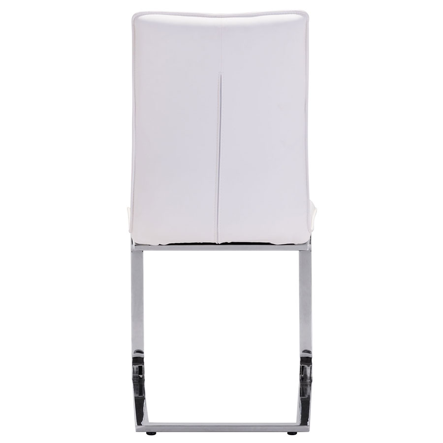 Agda White Leatherette Contemporary Dining Chair