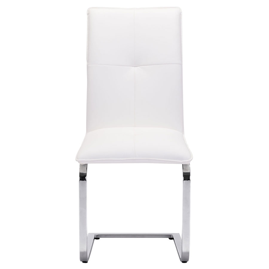 Agda White Contemporary Dining Chair
