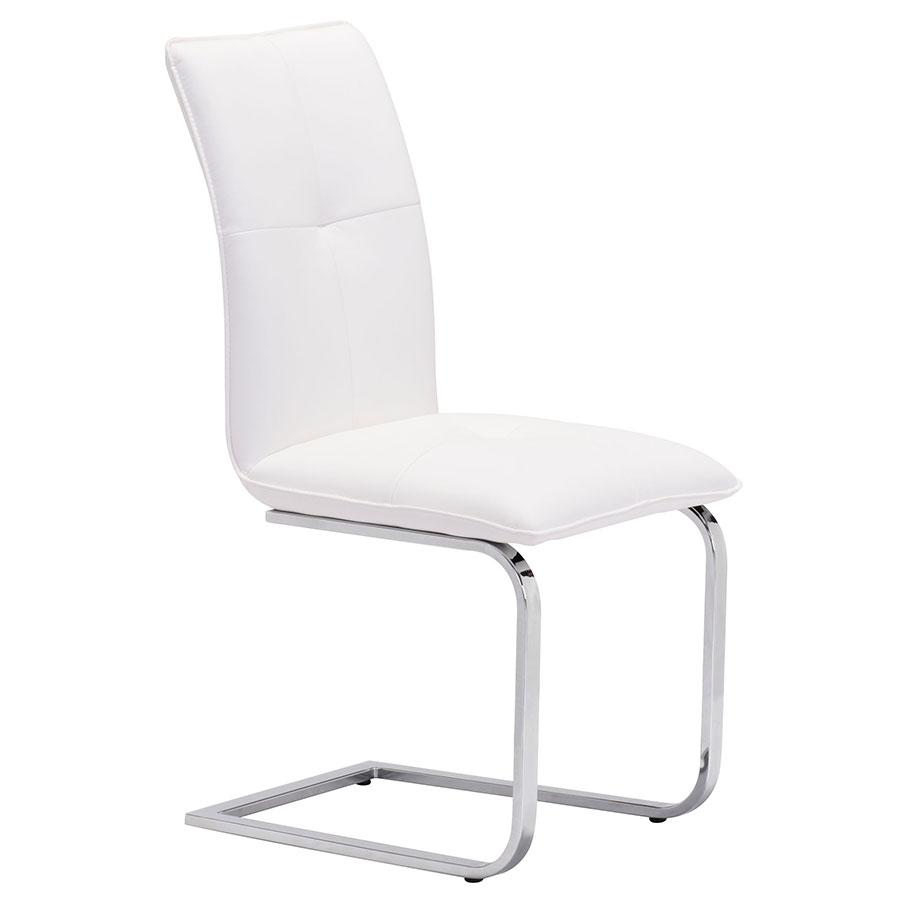 Agda White Modern Dining Chair