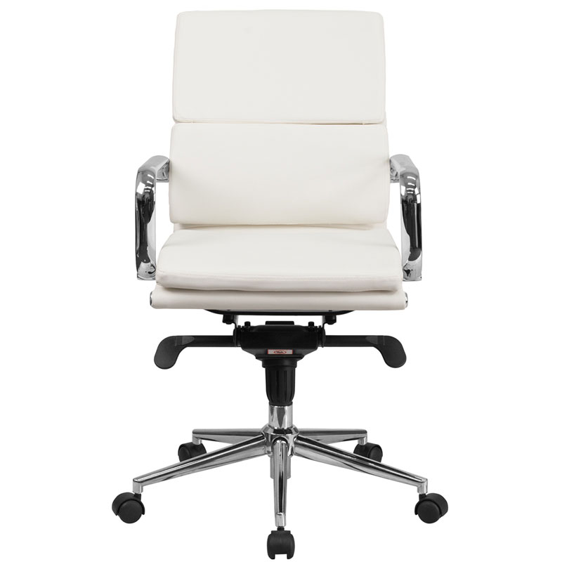 Agency modern low back white office chair eurway for Modern white office chair