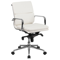 Agency Modern Low Back White Office Chair