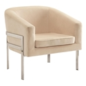 Agnes Beige Modern Lounge Chair