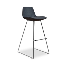 Agoura Gray Wool Modern Classic Bar Stool