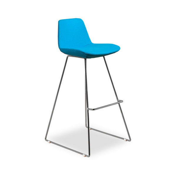 Agoura Turquoise Wool Modern Classic Bar Stool