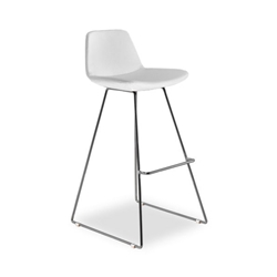 Agoura White Leatherette Modern Bar Stool