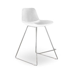 Agoura White Leatherette Modern Classic Counter Stool