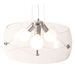 Aiden Glass + Chrome Modern Ceiling Lamp