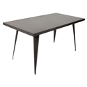 "Ajax 59"" Antique Modern Dining Table"