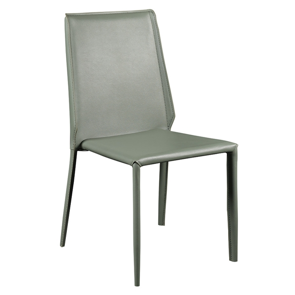 Alder Green Modern Side Chair
