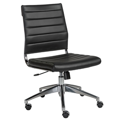 Alex Armless Modern Low Back Black Office Chair