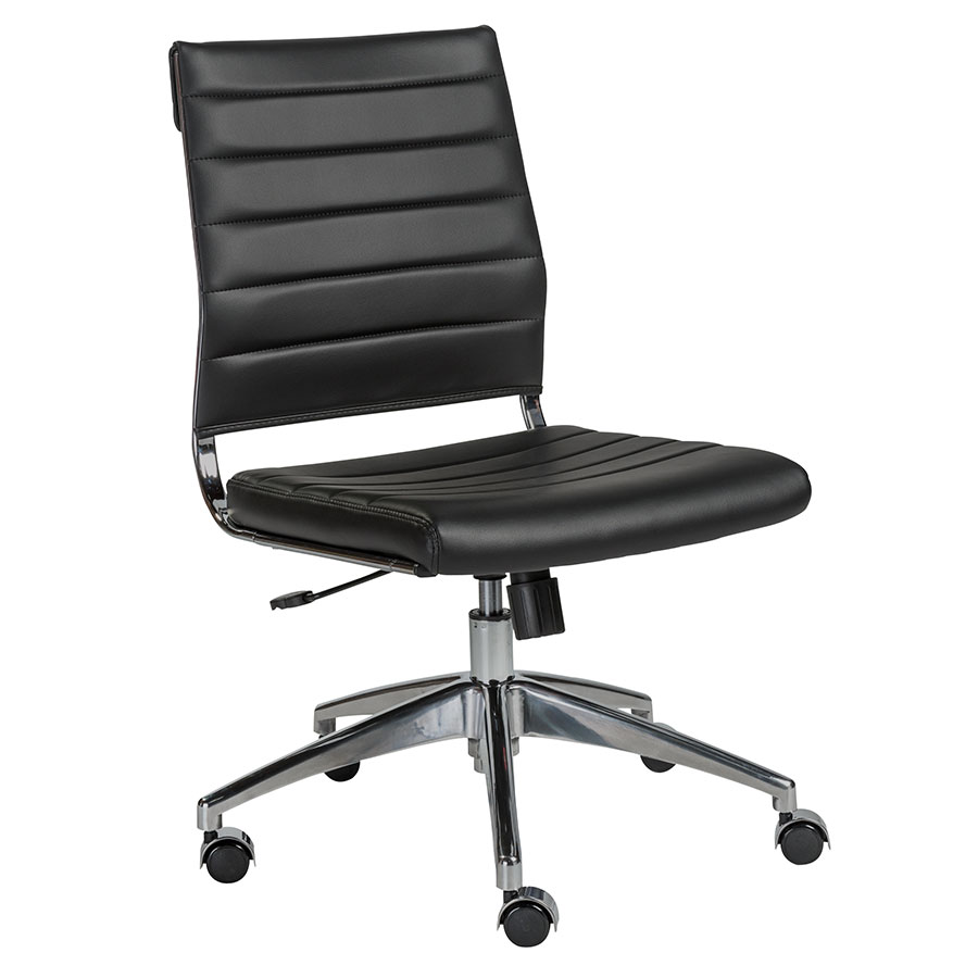 Call To Order · Alex Armless Modern Low Back Black Office Chair