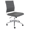 Axel Armless Modern Low Back Gray Office Chair