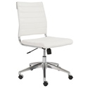 Axel Armless Modern Low Back White Office Chair