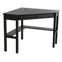 Alexander Contemporary Corner Desk in Black