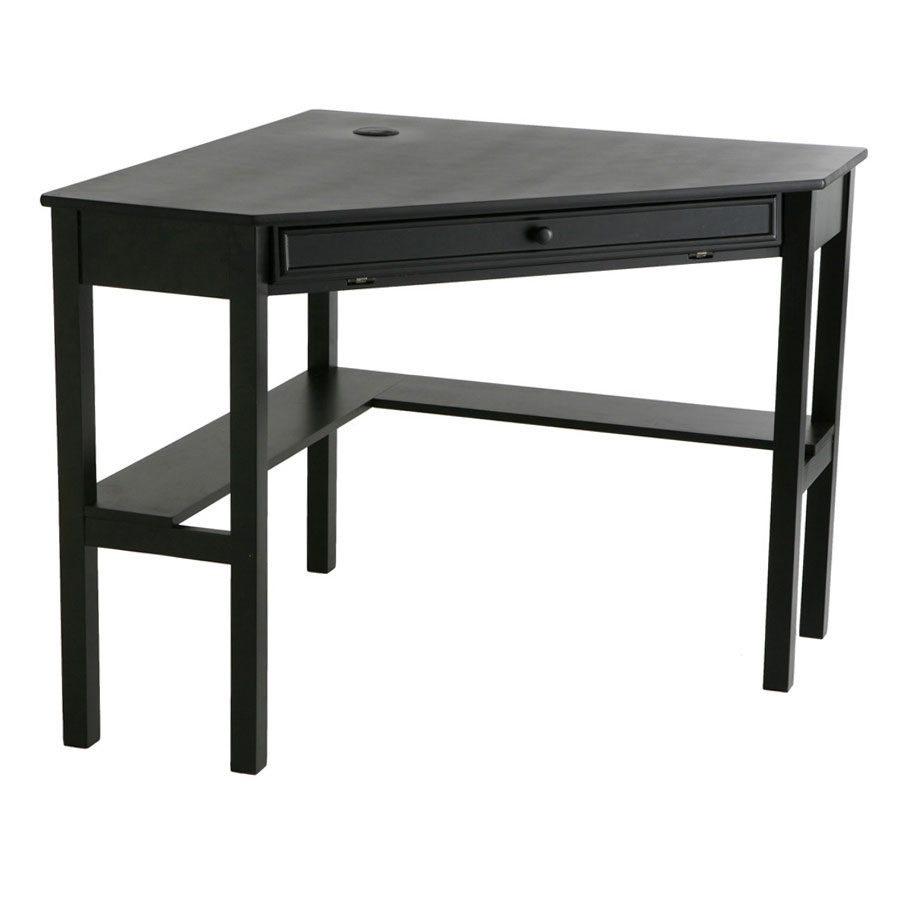 modern desks  alexander black corner desk  eurway - alexander contemporary corner desk in black