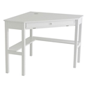 Alexander Contemporary Corner Desk in White