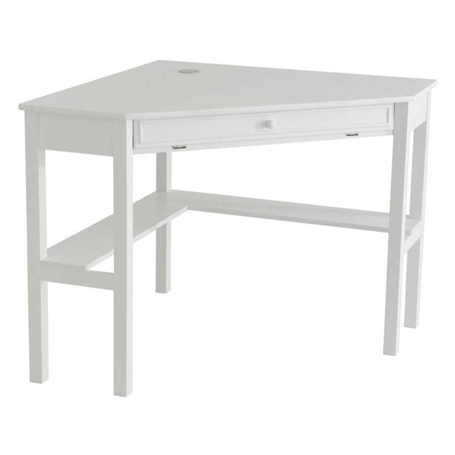 Call To Order Alexander Contemporary Corner Desk In White