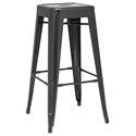Alfredo Modern Indoor Outdoor Bar Stool in Black