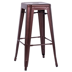 Alfredo Modern Indoor Outdoor Bar Stool in Red Copper