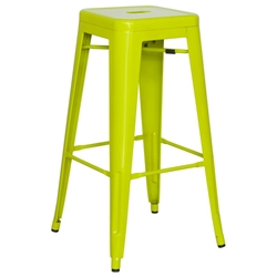 Alfredo Modern Indoor Outdoor Bar Stool in Lime Green