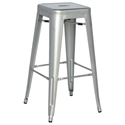 Alfredo Modern Indoor Outdoor Bar Stool in Silver