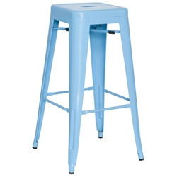 Alfredo Modern Indoor Outdoor Bar Stool in Sky Blue