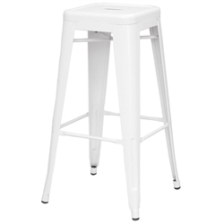 Alfredo Modern Indoor Outdoor Bar Stool in White