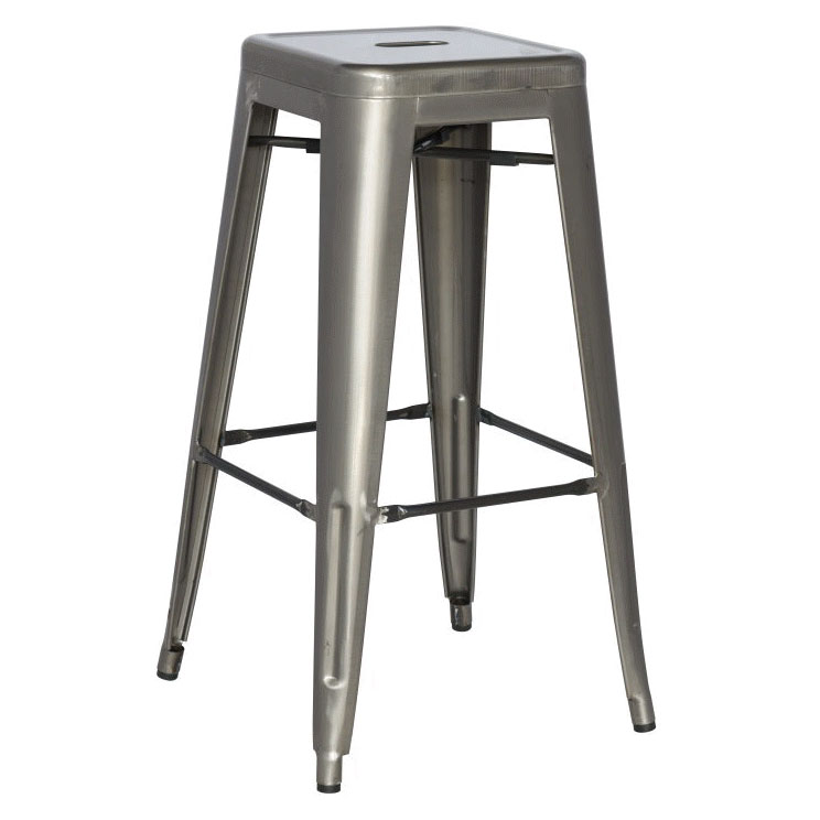 Alfredo Industrial Gun Metal Counter Height Stool