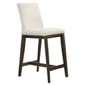 Algarve Modern White + Espresso Leather Counter Stool