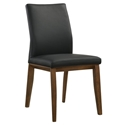 Algarve Modern Black Leather Dining Chair