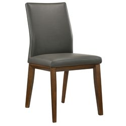Algarve Modern Gray Leather Dining Chair