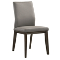 Algarve Modern Light Gray + Espresso Leather Dining Chair