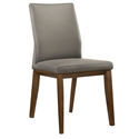 Algarve Modern Light Gray Leather Dining Chair