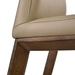 Algarve Modern Light Mocha Leather Dining Chair - Seat Detail