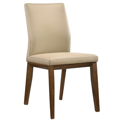 Algarve Modern Light Mocha Leather Dining Chair