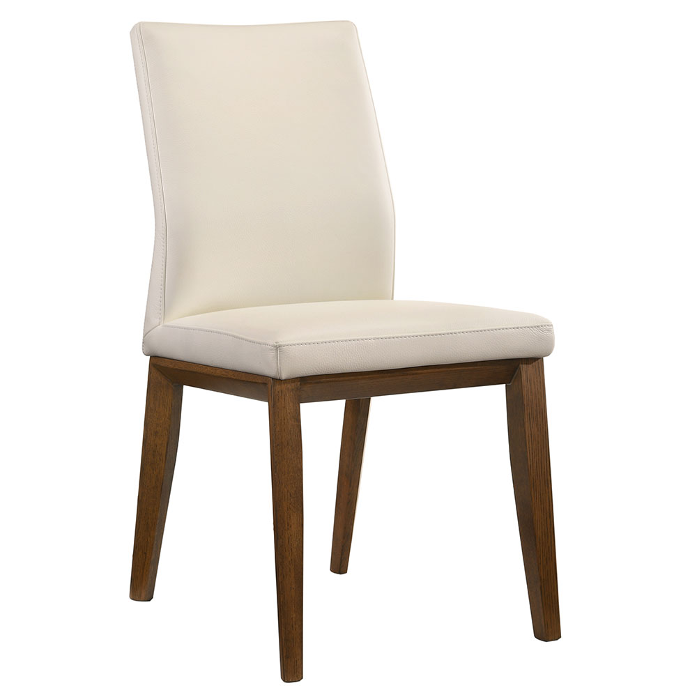 Algarve Modern White Leather Dining Chair