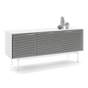 BDI Align Modern Triple Console Base Cabinet in Satin White