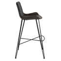Euro Style Alisa Dark Gray Fabric / Leatherette Modern Bar Stool - Side View