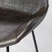 Euro Style Alisa Dark Gray Fabric / Leatherette Modern Stool Detail