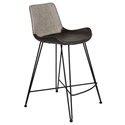Euro Style Alisa Light Gray Fabric / Leatherette Modern Counter Stool