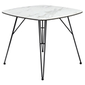 Euro Style Alisa White Ceramic Glass Top Modern Dining Table