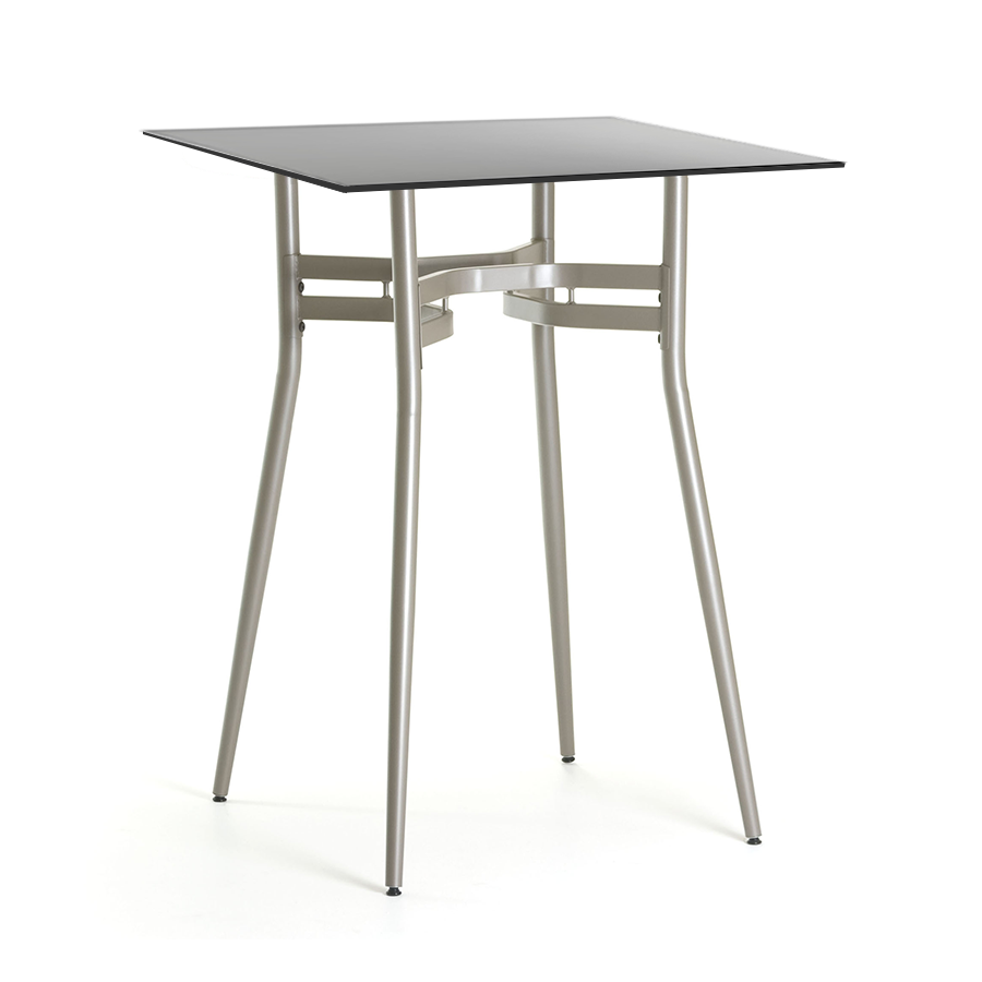 Great Alistair Black Glass + Metal Modern Counter Height Table