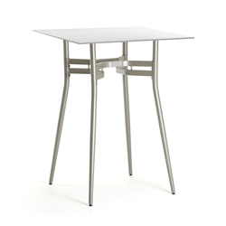 Alistair White Glass + Metal Modern Counter Height Table