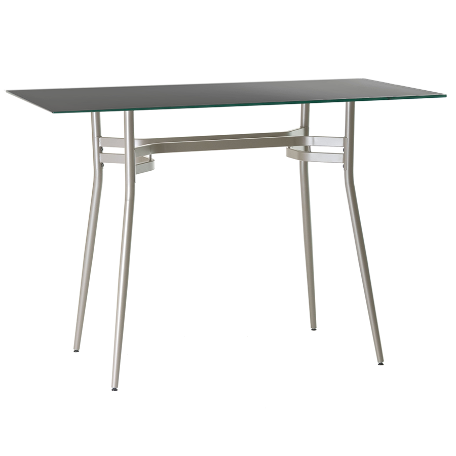 alistair long black modern bar table  eurway furniture - alistair black glass  metal long modern bar height table